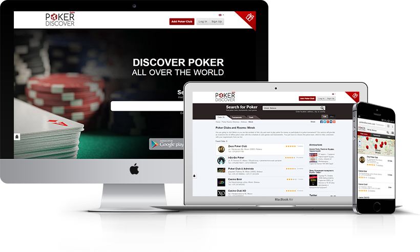 PokerDiscover optimized for all types of devices