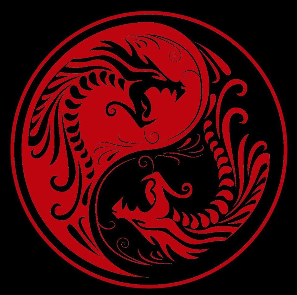 получать картинка красного дракона на черном фоне сахаром